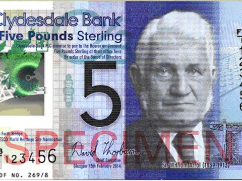 The banknotes  you can put in the washing machine: First plastic £5 unveiled