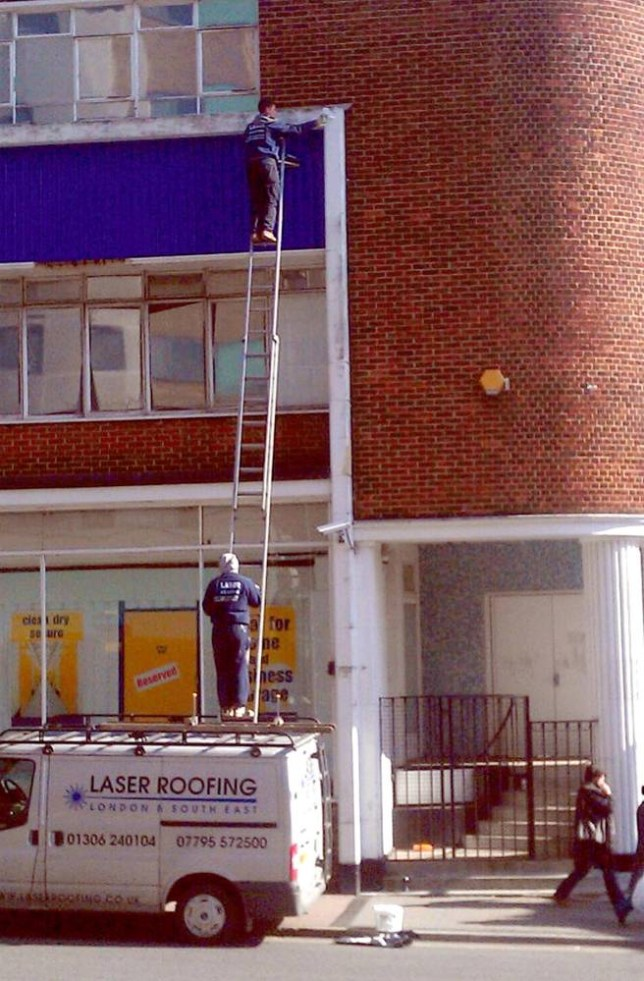 George Nicholls: Painter fined for balancing ladder on top of van