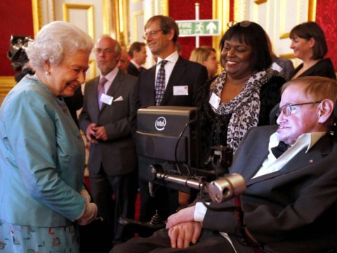 Queen asks Stephen Hawking whether 'he still has American voice'