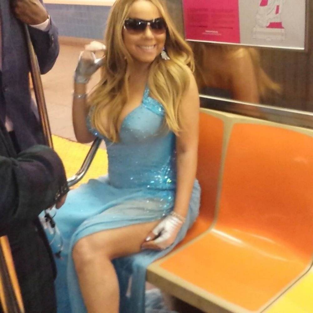 Mariah Carey takes the subway – in a ballgown (natch)
