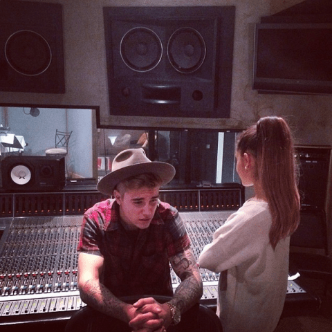 Could a duet between Bieber and Ariana Grande be on the cards?