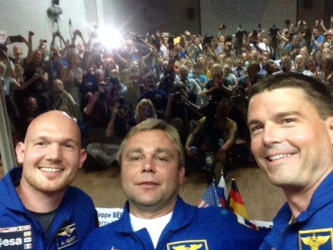 Space embrace: Astronauts hug and post selfie to show unity despite political tensions on Earth