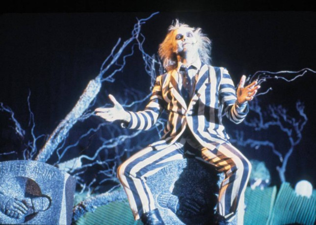 FILM: Beetlejuice (1988), with Michael Keaton.   MICHAEL KEATON stars.  Licensed by CHANNEL 5 BROADCASTING. Five Stills: 0207 550 5509.  Free for editorial press and listings use in connection with the current broadcast of Channel 5 programmes only.  This Image may only be reproduced with the prior written consent of Channel 5.  Not for any form of advertising, internet use or in connection with the sale of any product.