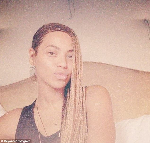 Beyonce's naked face selfie that said she was definitely not at Kim Kardashian's wedding to Kanye West