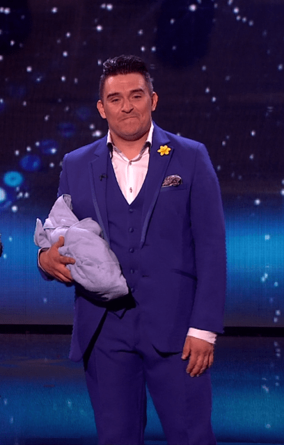 'Evil' Simon Cowell buzzes his own baby during Britain's Got Talent live semi-final