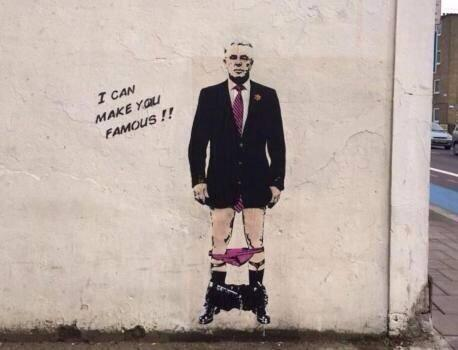 Max Clifford 'Banksy-style' street art popping up in London as police review new claims