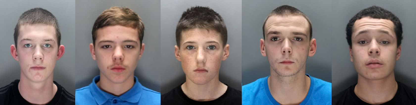 Gang of children who 'laughed and joked' during murder trial are named by judge after conviction