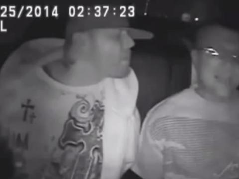 Sweet kiss of meth: Two men caught breaking bad in police car