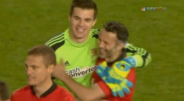 Eldin Jakupovic apologised to Ryan Giggs (Picture: Twitter)