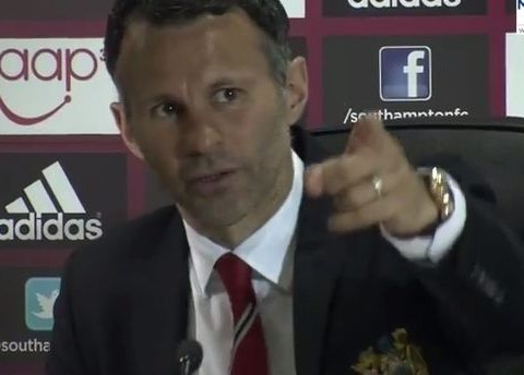 'Flippin heck': Ryan Giggs unimpressed by Manchester City's title celebrations and asks for them to be turned off