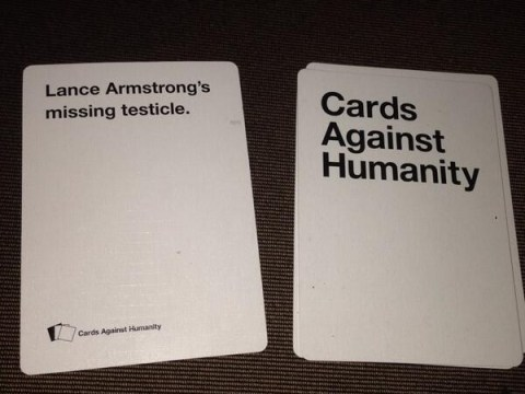 That awkward moment when Lance Armstrong plays Cards Against Humanity
