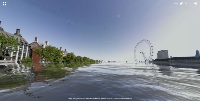 That looks familiar: World Under Water shows what London would look like flooded (Picture: World Under Water)