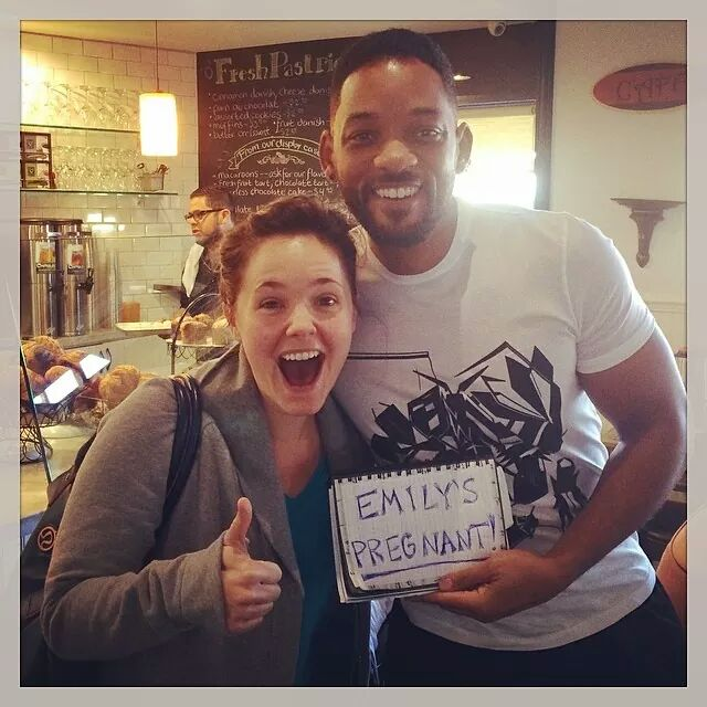 How to announce your pregnancy… with a little help from Will Smith