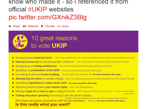 The tweet police: Officers ask blogger to remove Ukip jibe after Eurosceptic party complains