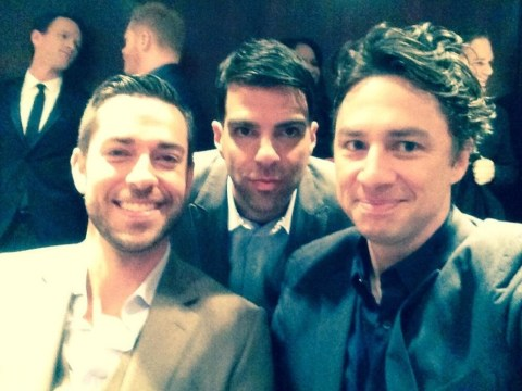 Surely there's a movie in there somewhere: It's Zach Braff, Zachary Quinto and Zachary Levi all in the same photo