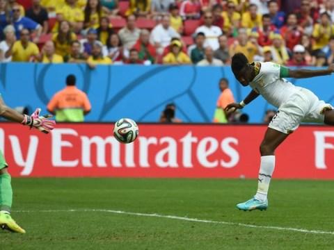 Kwadwo Asamoah's incredible cross sets up Asamoah Gyan's equaliser against Portugal