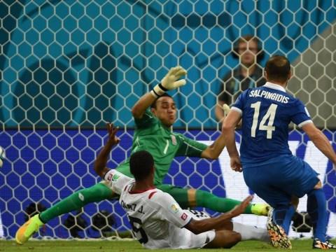 Costa Rica keeper Keylor Navas produces wondersave against Greece