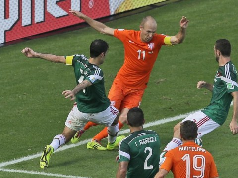 Arjen Robben: I dived earlier – but that WAS a penalty! Twitter in uproar over the Dutch winger's antics during win over Mexico