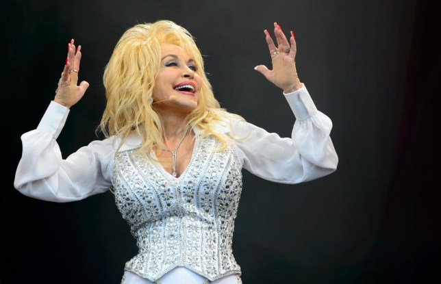US singer Dolly Parton performs at Glastonbury (Picture: Jonathan Short/Invision/AP)
