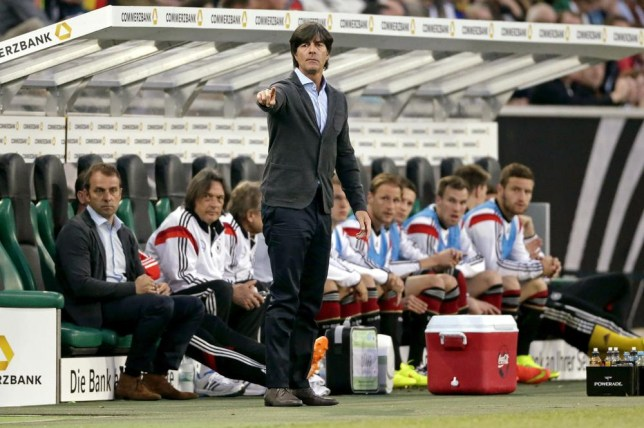 Coach Joachim Low of Germany during the Frendly match between Germany and Cameroon at Borussia-Park on June 01, 2014 in Munchengladbach, Germany. VI-Images/VI-Images via Getty Images