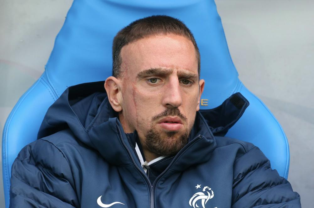 Franck Ribery joins World Cup 'injured XI' after being ruled out of Brazil