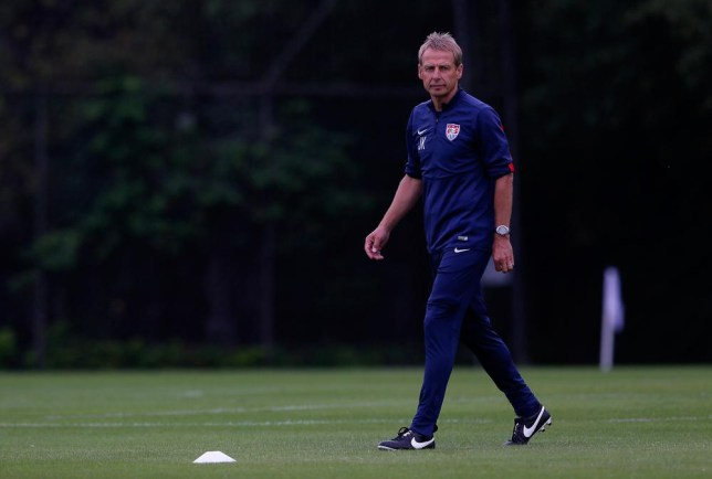 SAO PAULO, BRAZIL - JUNE 10: Head coach Jürgen Klinsmann of the United States walks the pitch during the US Men's National Team training at Sao Paulo FC on June 10, 2014 in Sao Paulo, Brazil. Kevin C. Cox/Getty Images