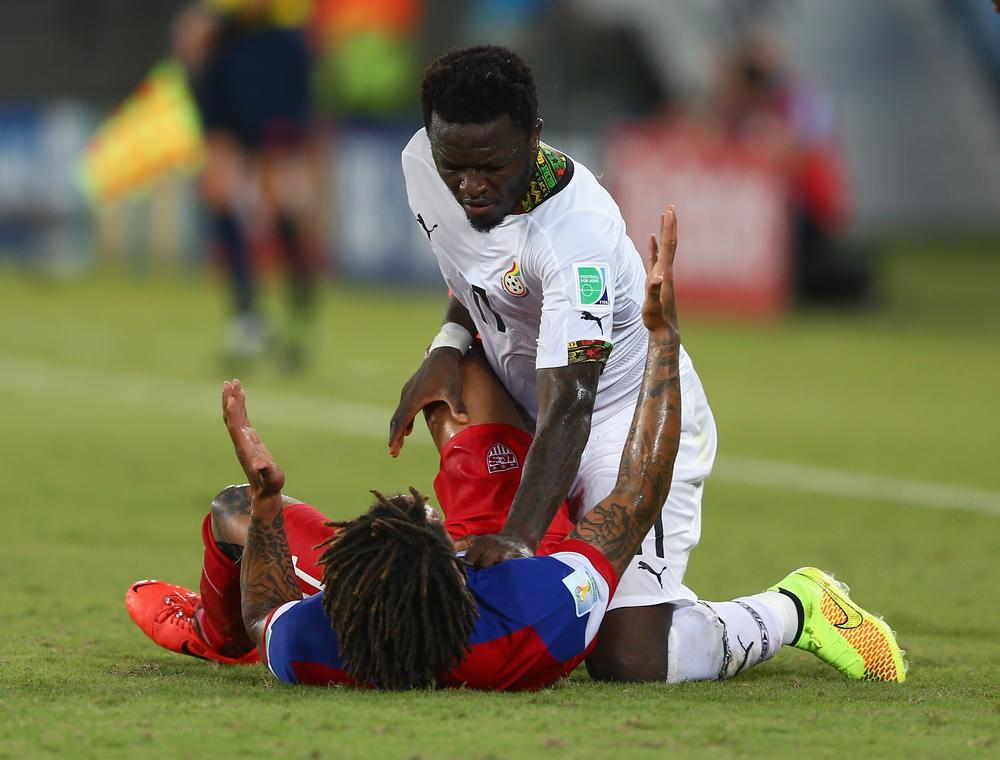 Sulley Muntari sent home from Ghana World Cup squad 'for threatening coaching staff with broken bottle'