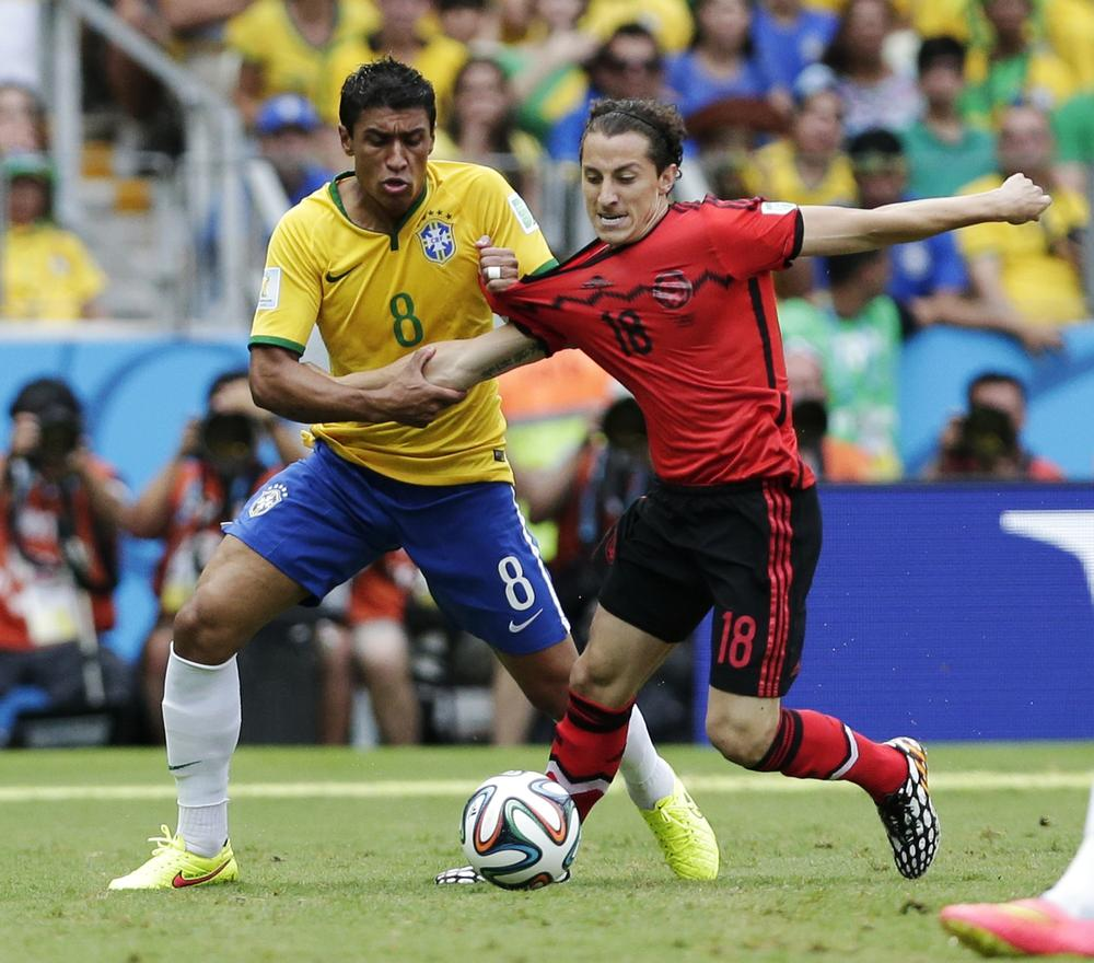 Andres Guardado proved to be a hand full for Brazil.