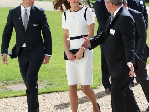Kate Middleton styles it literally with nautical Jaeger dress at the Royal Maritime Museum