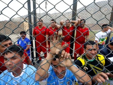 Football 'bad' boys get stuck into Prison World Cup 2014