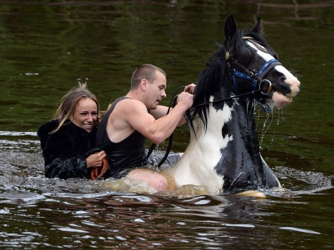 Pictures: Travellers attend the annual Appleby horse fair