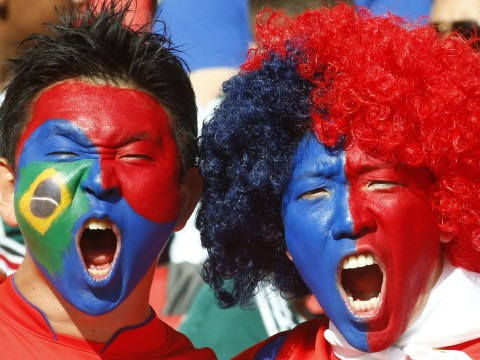 Pictures: Best painted faces of the Brazil World Cup 2014