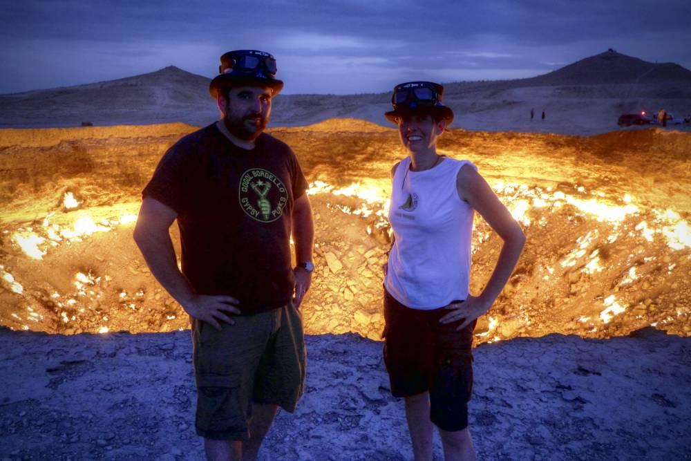 Newlyweds honeymoon to Gate to Hell