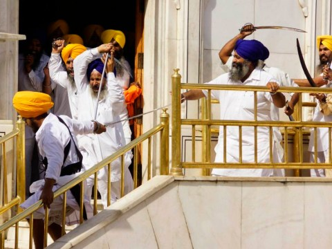 Sword-wielding Sikhs clash in incredible scenes, more Game Of Thrones than Golden Temple