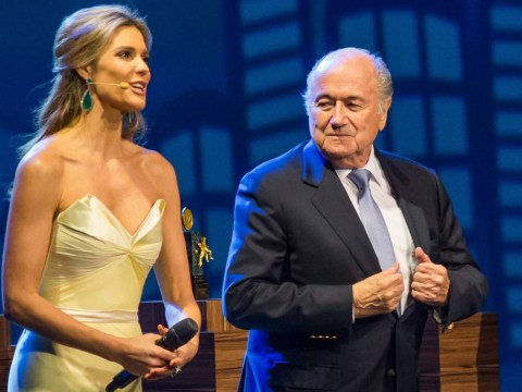 Busted! Sepp Blatter ogles Brazilian model Fernanda Lima at Fifa Congress