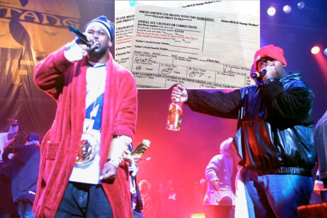 "Ghostface Killah, on left, and Raekwon of the Wu-Tang Clan performs during a party to celebrate the release of their new album ""Iron Flag"" at the Hammerstein Ballroom in New York City.  12/19/01  Photo by Scott Gries/ImageDirect"
