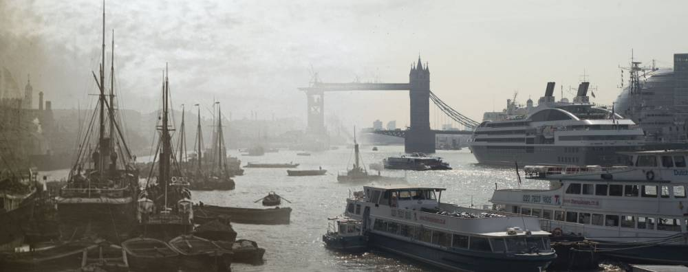 16 pictures from Museum of London's exhibition Bridge showing life 'then and now' across London bridges