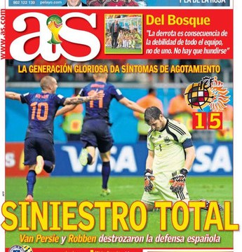 Iker Casillas the scapegoat in the Spanish press after World Cup humiliation by Holland