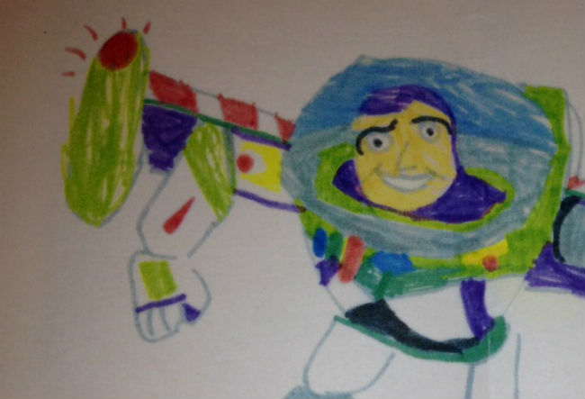 This kid's Buzz Lightyear drawing will ruin your image of Toy Story forever