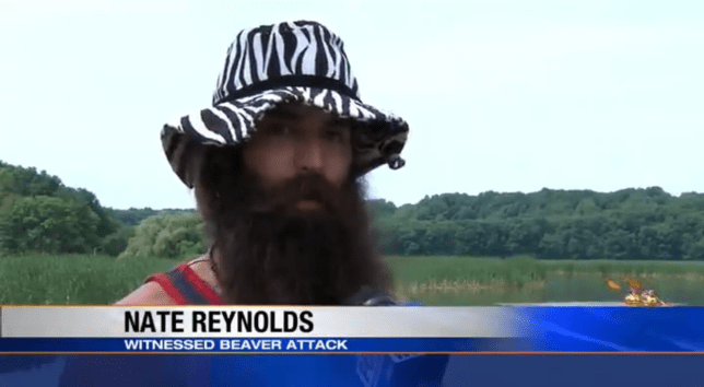 Nate Reynolds: Beaver attack witness, hero (Picture: WHAM)
