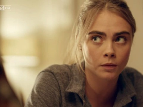 So here's a clip of Cara Delevingne's TV acting debut and, surprise, surprise, the camera loves her