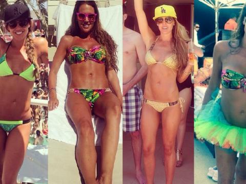 Danielle Lloyd celebrates her birthday in Vegas with 17 bikini snaps