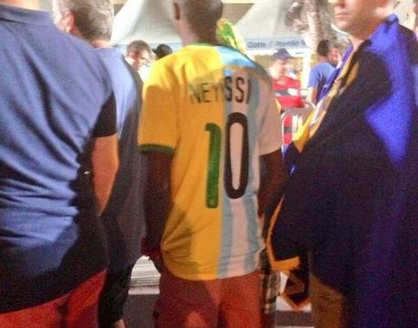 World Cup fan can't decide between Neymar and Lionel Messi, conjures 'Neyssi' shirt