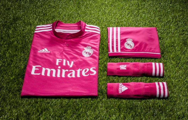 1725b255a Pretty in pink  Real Madrid s second strip for 2014 15 (Picture  Todo Sobre  Camisetas)