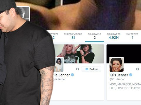Rob Kardashian unfollows everyone on Twitter except Kylie and Kris Jenner, what's going on?