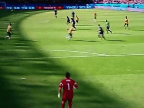 Not again! Watch the latest World Cup howler as Memphis Depay's shot squirms past Australia's Mathew Ryan