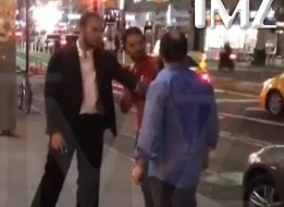 Shia LaBeouf caught on camera 'squaring up' to a man outside a New York strip club