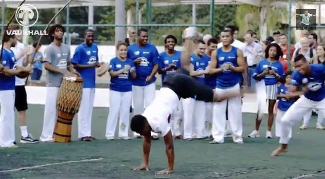 Danny Welbeck and Daniel Sturridge show off Capoeira skills in Brazilian favela