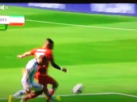 Should Iran have had a penalty for Pablo Zabaleta's foul on Ashkan Dejagah in the box?