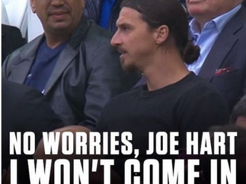 Zlatan Ibrahimovic spotted in stands for England vs Uruguay, instantly gets funny meme teasing Joe Hart